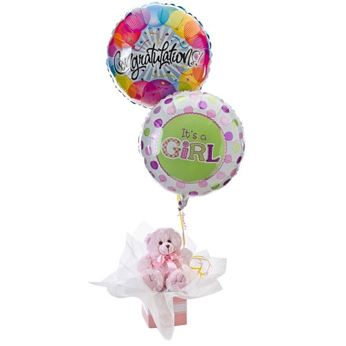 Baby Gift Hampers Townsville : Its a girl balloon teddy new baby occasions