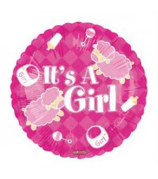 Its a Girl Helium Foil Balloon
